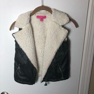 Betsey Johnson Faux Leather Vest